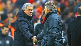 Jose Mourinho and Roberto Mancini go head to head at Stamford Bridge.