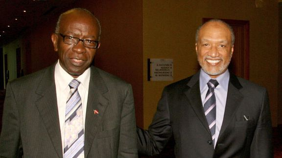 Jack Warner, left, and Mohamed Bin Hammam, right, are the subject of corruption allegations reported in The Sunday Times over Qatar's successful bid to host the 2022 World Cup.