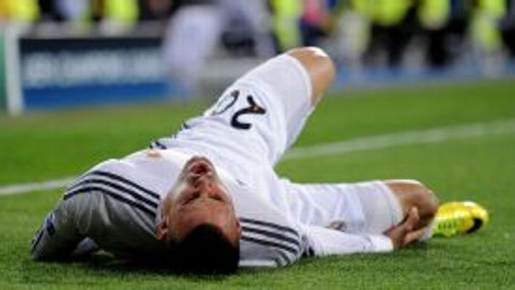 Jese was stretchered off injured in the first half against Schalke.