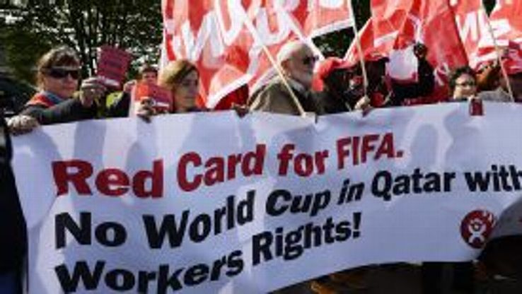 There have been protests over the treatment of workers in Qatar.