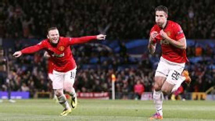 Robin van Persie's free-kick put Man United ahead in the tie for the first time.