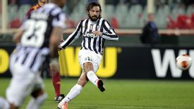 Andrea Pirlo scores Juventus' winner with a sublime free kick.