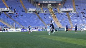 Lazio faced Atalanta in front of a near-empty stadium.