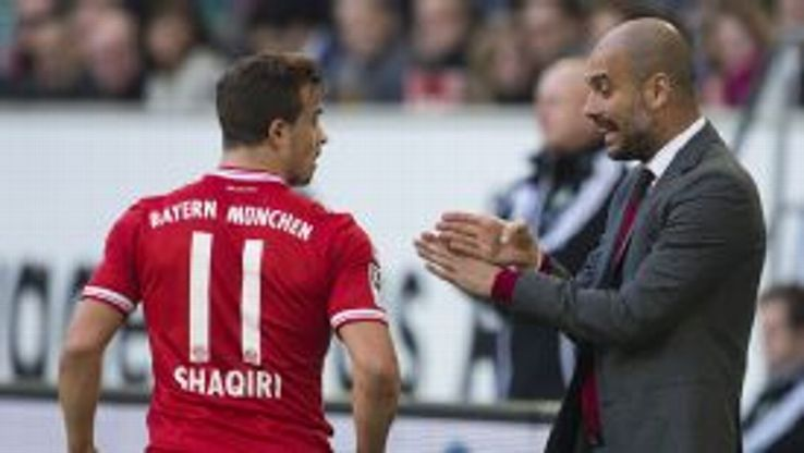 Xherdan Shaqiri is unhappy about his lack of playing time under Pep Guardiola.