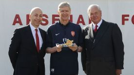 Wenger receives an honour ahead of his 1,000th match in charge of Arsenal.