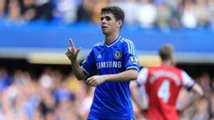 Oscar helped himself to his second and Chelsea's fifth after half-time.