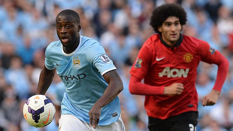 Yaya Toure got the better of Marouane Fellaini when City and United met in September.