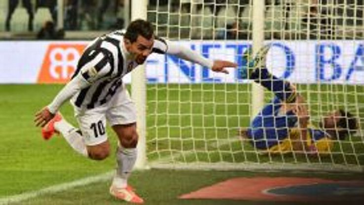 Carlos Tevez continued his fine recent form with a brace against Parma.