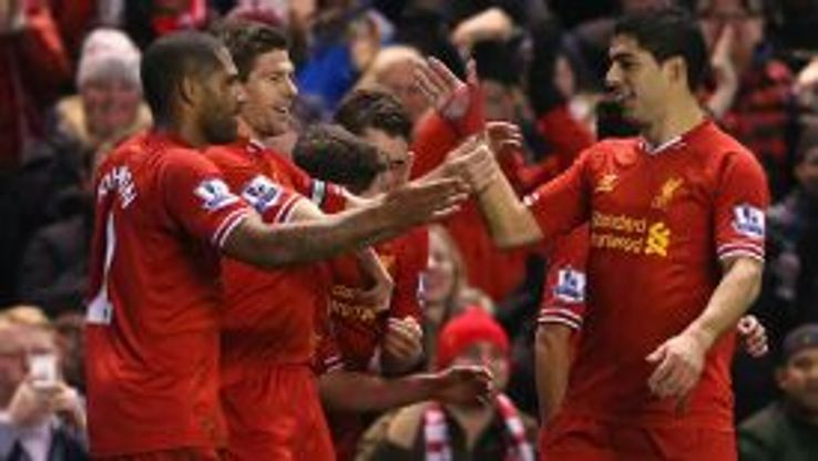 Steven Gerrard's free-kick gave Liverpool the lead vs. Sunderland.