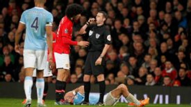 Marouane Fellaini could be in trouble with the FA for his clash with Pablo Zabaleta.