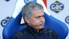 Jose Mourinho takes his seat ahead of Chelsea's Premier League meeting with Crystal Palace.