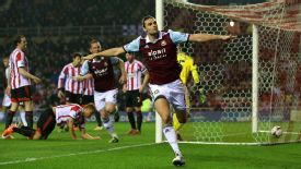 Andy Carroll climbed highest to head West Ham into the lead vs. Sunderland.