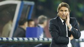 Antonio Conte saw his side beaten 2-0 by Napoli on Sunday.