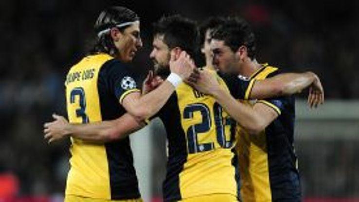 Diego team celeb Barcelona vs Atletico