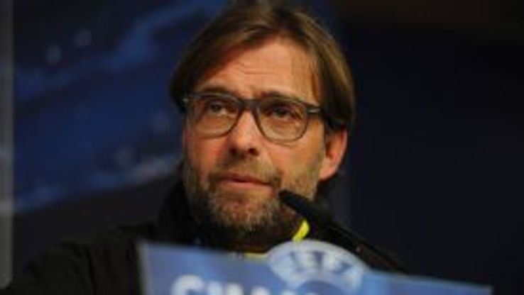 Juergen Klopp speaks at his news conference for Dortmund vs. Real Madrid.