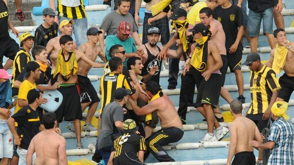 Nacional fans clashed with police last week.