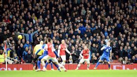 Everton drew 1-1 at Arsenal in their meeting at Emirates Stadium in December.