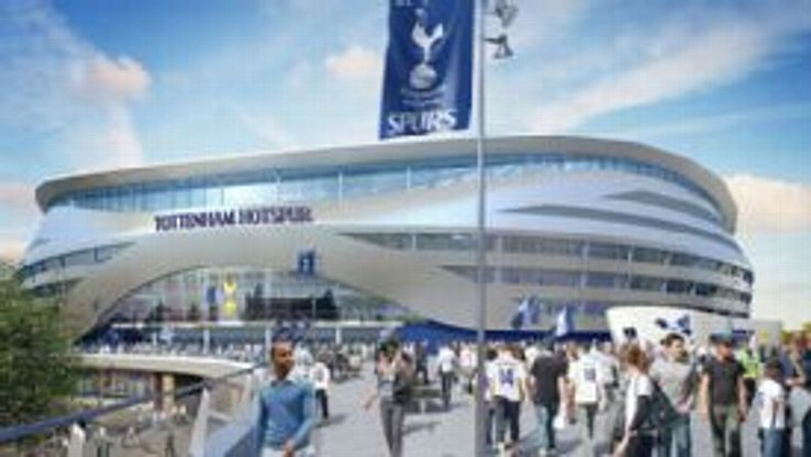Tottenham stadium plans outside view