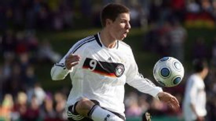 Mattia Maggio in action for the Germany under-19s in 2009.