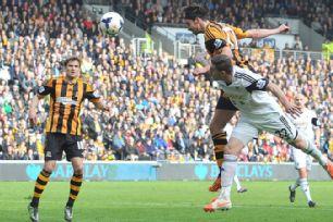 George Boyd headed Hull in front versus Swansea.