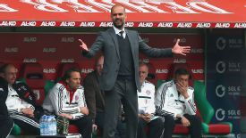 Pep Guardiola endured a frustrating afternoon at Augsburg.
