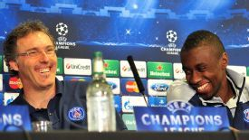 LAurent Blanc and Blaise Matuidi prematch