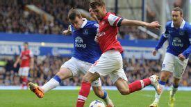 Aaron Ramsey Arsenal vs Everton return