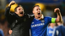 Frank Lampard and John Terry celebrate after the final whistle against PSG.