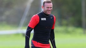 Wayne Rooney Manchester United training pre Bayern