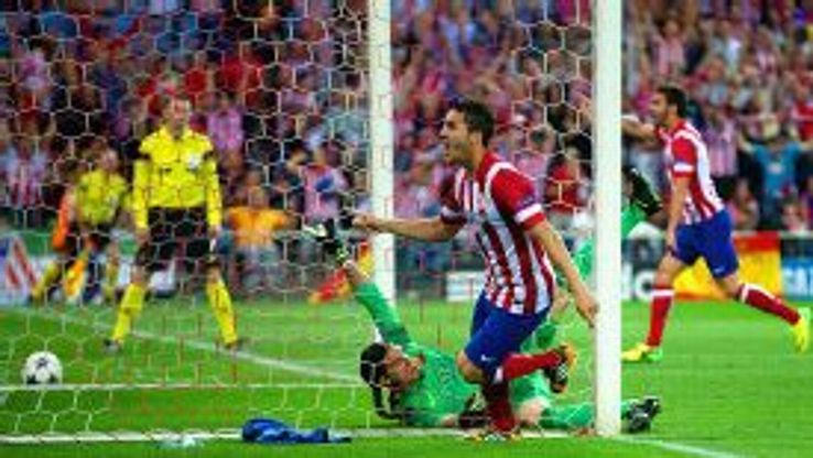 Koke gave Atletico an early lead against Barcelona.