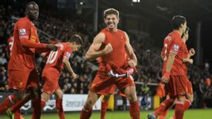 Steven Gerrard and Liverpool are on course for their first title in 24 years.
