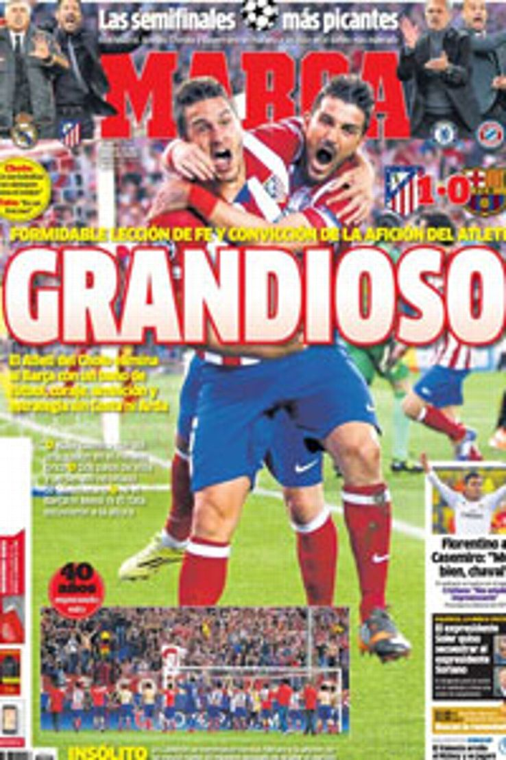 Marca's front cover on April 10.