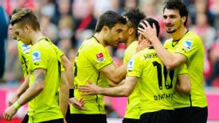 Dortmund celebrate as they went ahead.