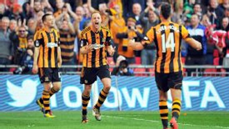 David Meyler finally made sure Hull would be in the FA Cup final by scoring the Tigers' fifth goal in stoppage time.