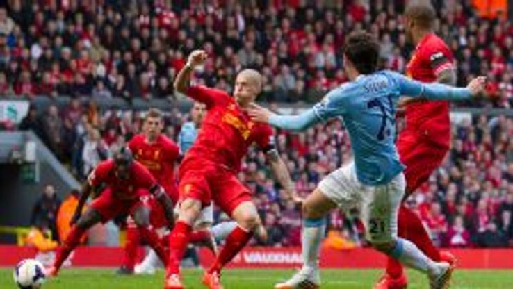 David Silva forces Glen Johnson to score an own goal.