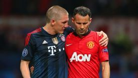 Bastian Schweinsteiger was impressed by Ryan Giggs' performance against Bayern.