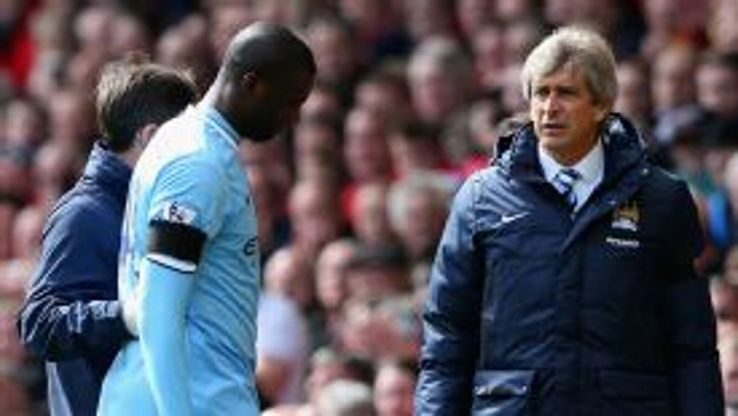 Yaya Toure had to be substituted early on against Liverpool.