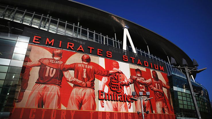 Arsenal Emirates Stadium exterior.