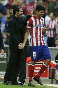 Diego Simeone said he would be willing to allow Diego Costa to leave.