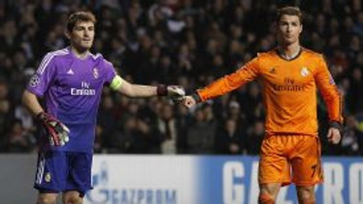Iker Casillas and Cristiano Ronaldo