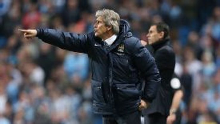Manuel Pellegrini saw his City side suffer a surprise setback against Sunderland.