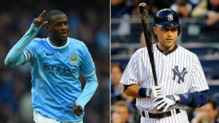 Yaya Toure and Derek Jeter Manchester City and New York Yankees