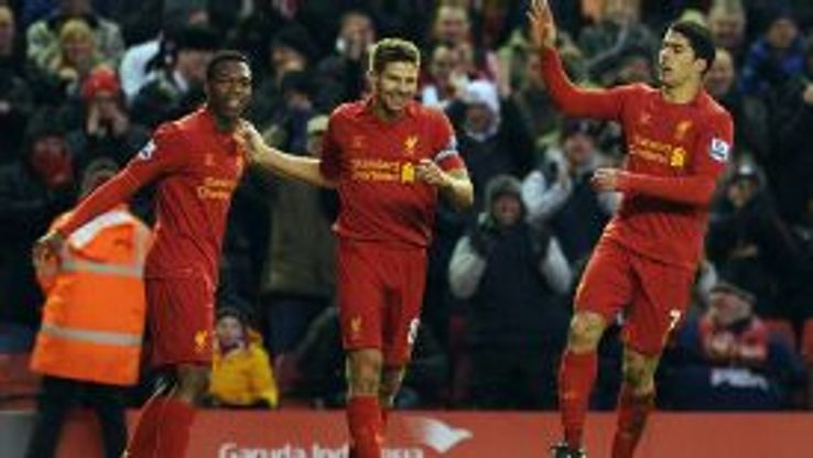 Luis Suarez, Steven Gerrard and Daniel Sturridge have lifted Liverpool to the top of the league.