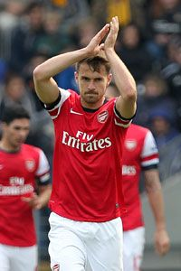 Aaron Ramsey scored the opening goal for Arsenal.