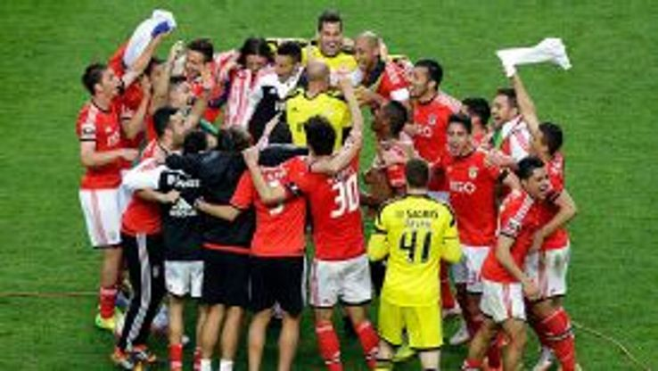 Benfica claimed their 33rd Liga title on Sunday night with a 2-0 win over Olhanense.