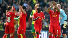 Relief for Liverpool after their 3-2 win at Norwich.
