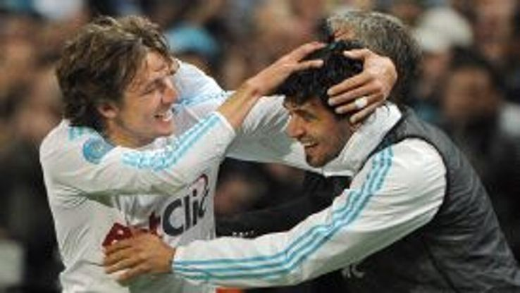 Heinze and Lucho won the Ligue 1 title together at Marseille in 2010.