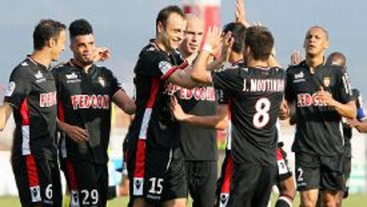 Dimitar Berbatov scored twice in Monaco's 4-1 win at doomed Ajaccio.