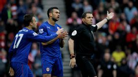 Juan Cala is given his marching orders against Sunderland.