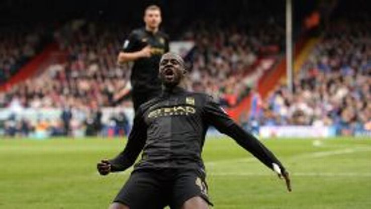 Yaya Toure was imperious at Selhurst Park as Manchester City took the initiative in the title race.